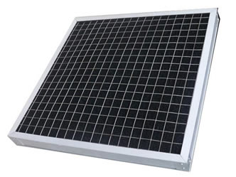 A piece of activated carbon filter panel with welded wire support mesh.