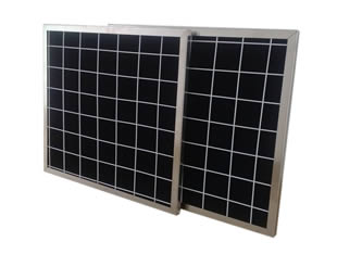 Two pieces of activated carbon filter panel on the white background.
