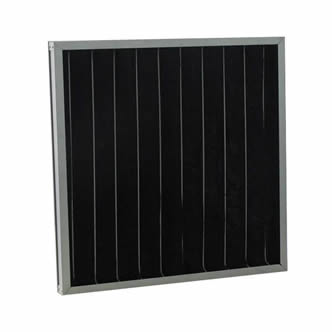 A piece of pleated carbon filter with galvanized frame on the white background.